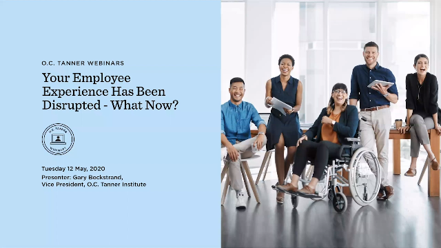 Your Employee Experience Has Been Disrupted: Now What?