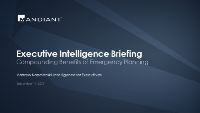 Executive Intelligence Briefing 9/14