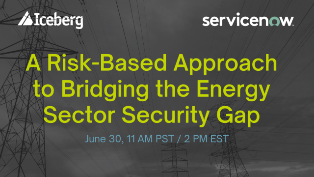A Risk-Based Approach to Bridging the Energy Sector Security Gap