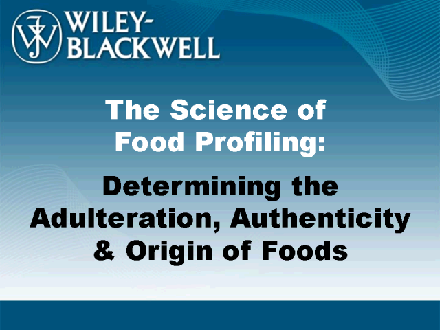 The Science of Food Profiling