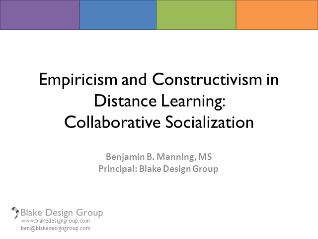 Empiricism and Constructivism in Distance Learning: Collaborative Socialization