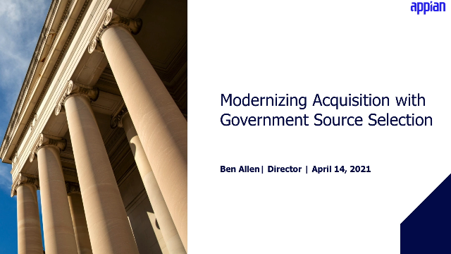 Modernizing Federal Acquisitions with Government Source Selection