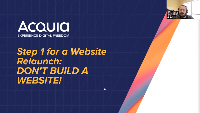 Step 1 For Website Relaunch: Don't Build a Website