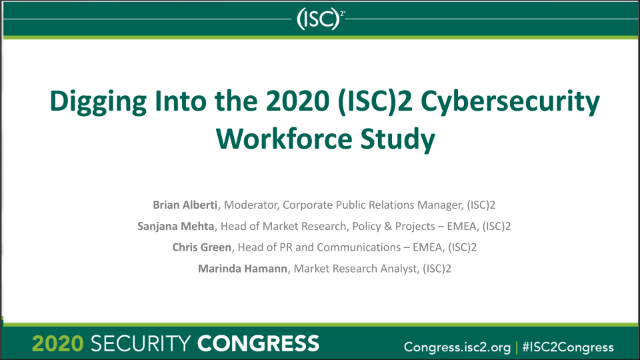Digging Into the 2020 (ISC)² Cybersecurity Workforce Study