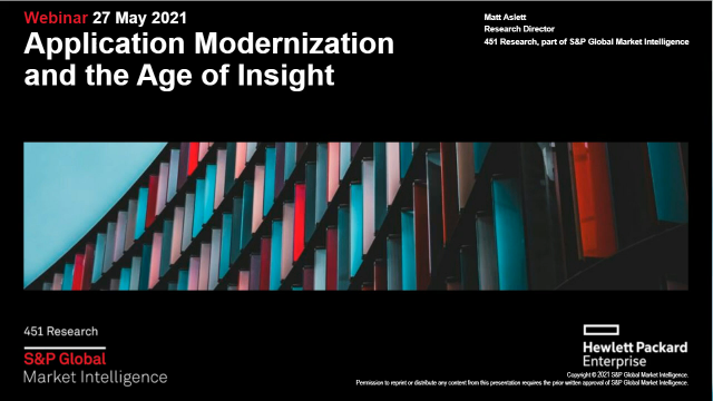 Application Modernization in the Age of Insight - with 451 Research