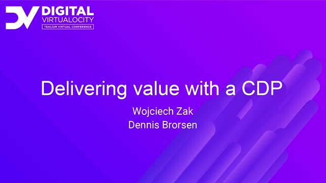 Delivering Value with a CDP