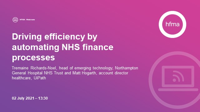 Driving efficiency by automating NHS finance processes