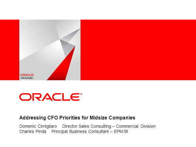 Finance: Addressing CFO Priorities for Midsize Companies