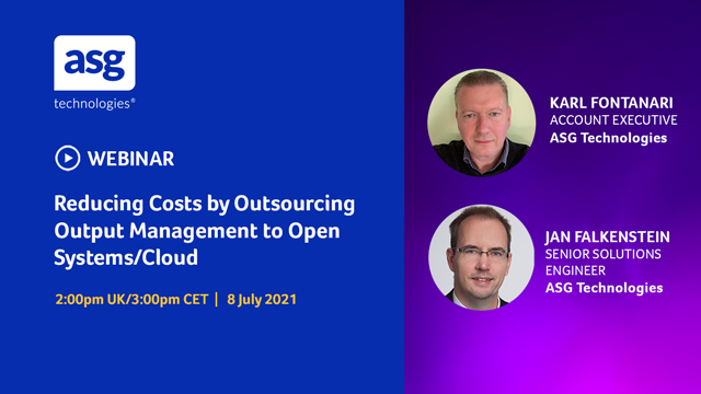 Reducing Costs by Outsourcing Output Management to Open Systems/Cloud