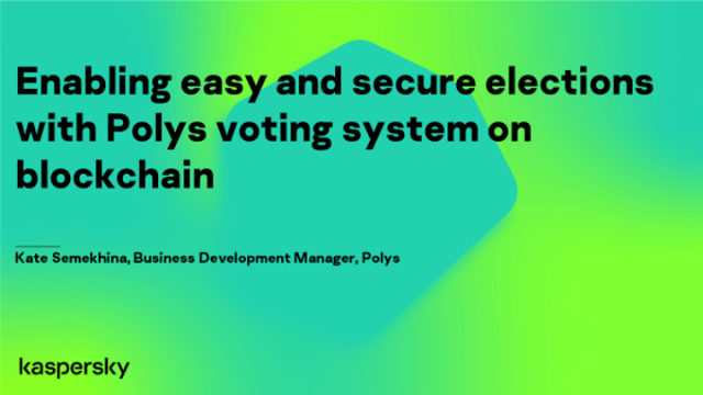 Enabling easy and secure elections with Polys voting system on blockchain
