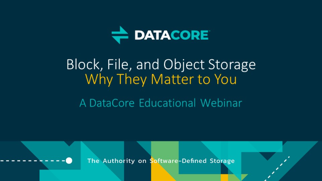 The difference between block, file and object storage