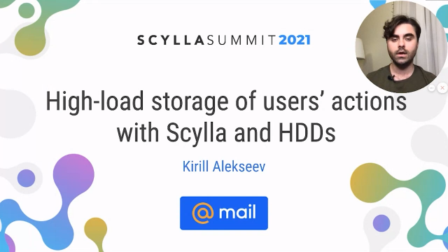 High-Load Storage of Users' Actions with Scylla and HD