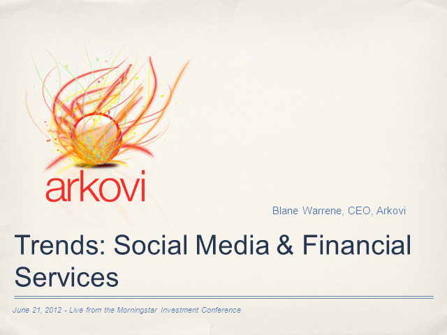 Trends in Use of Social Media by Financial Advisors