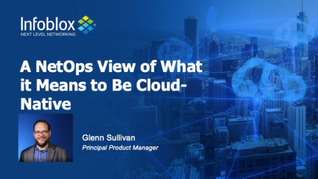 A NetOps View of What it Means to Be Cloud-Native (EMEA)