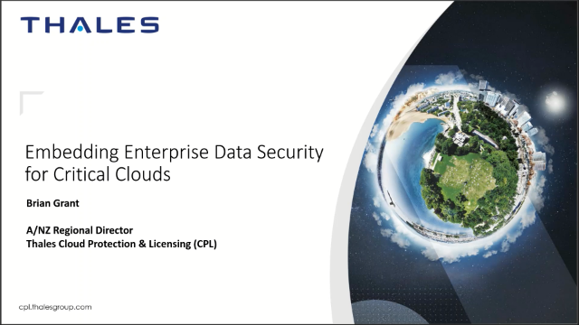 Embedding Enterprise Data Security for Critical Workloads in the Cloud