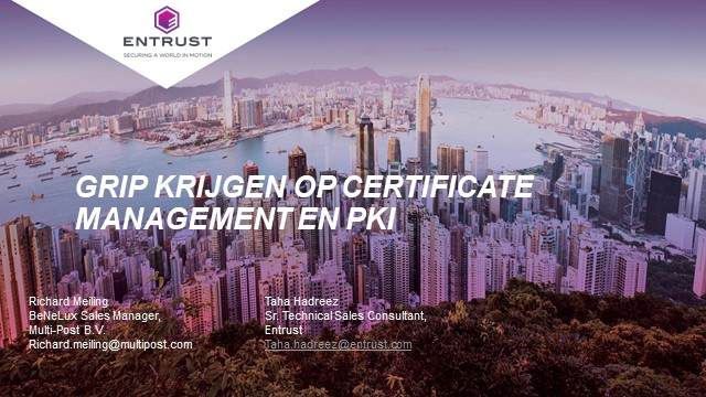 Manage certificates simply and easily, and a PKI that's fast & scales on demand?