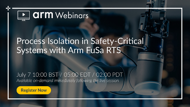 Process Isolation in Safety-Critical Systems with Arm FuSa RTS