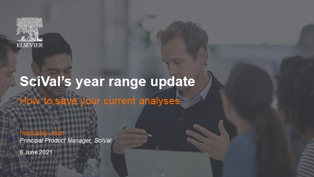 SciVal's year range update – saving current analyses and using report templates