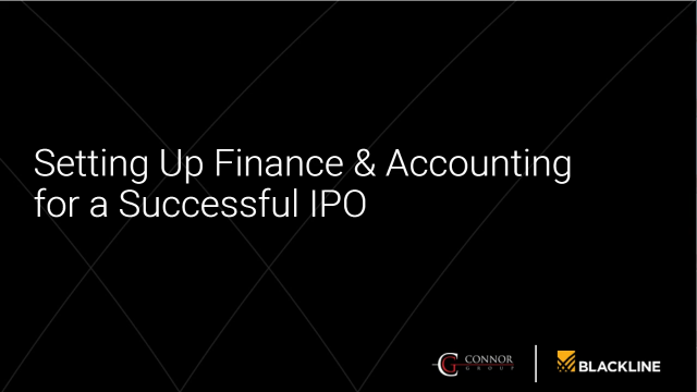 Setting Up Finance & Accounting for a Successful IPO