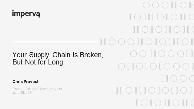 Your Supply Chain is Broken, But Not for Long