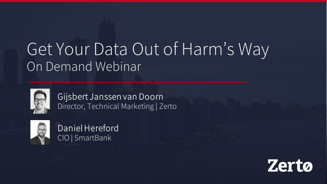Get Your Data Out of Harm's Way