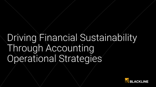 Driving Financial Sustainability Through Accounting Operational Strategies