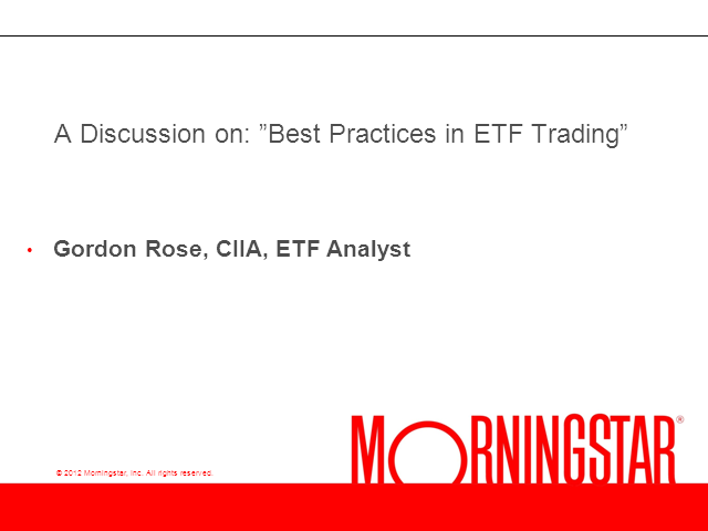 Best Practices in ETF Trading