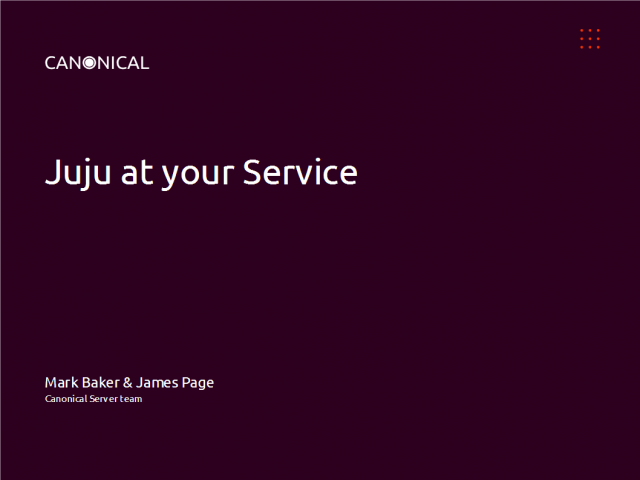 Juju & Ubuntu Server 12.04 LTS changes the way you deploy & manage applications