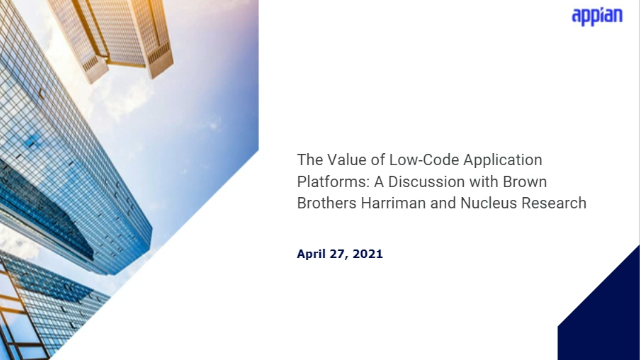The Value of Low-Code Platforms: A Discussion with BBH and Nucleus Research