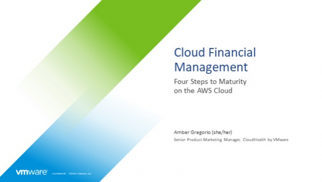 Cloud Financial Management: Four Steps to Maturity on the AWS Cloud
