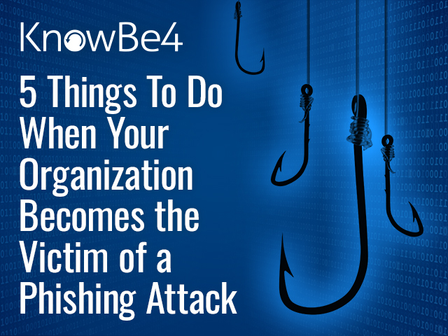 5 Things To Do When Your Organization Becomes the Victim of a Phishing Attack