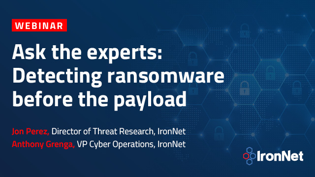 Ask the experts: Detecting ransomware before the payload
