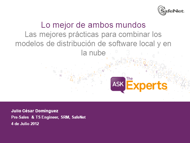Combinar los modelos de distribución de software local y en la nube