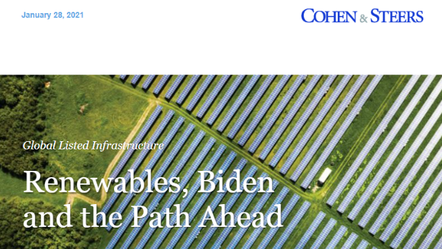 Global Listed Infrastructure: Renewables, Biden and the Path Ahead