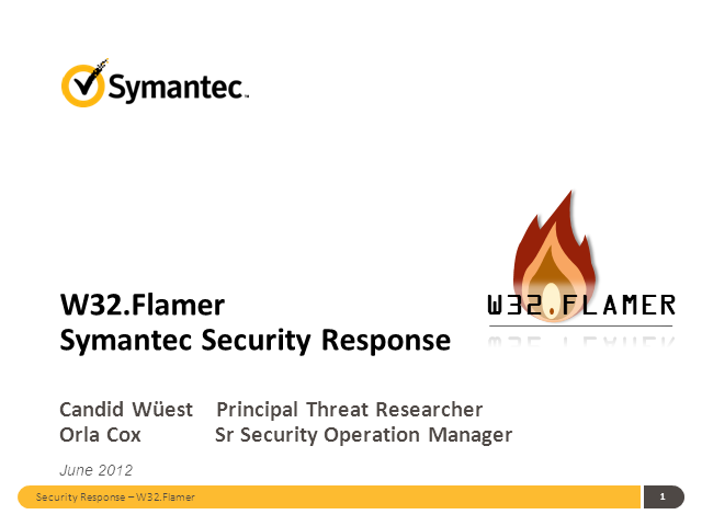 Flamer: The most complex malware threat since Stuxnet and Duqu