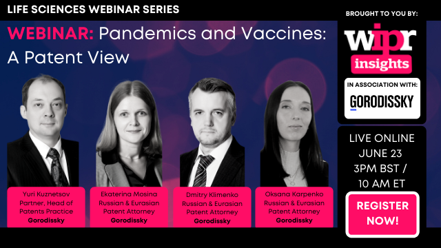 Pandemics and Vaccines: A Patent View