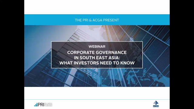 Corporate Governance in South East Asia: What Investors Need to Know