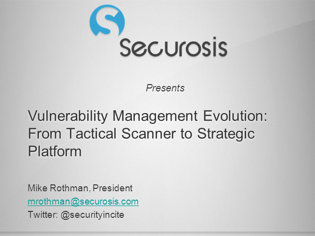 No More Checkboxes: Vulnerability Management Evolves