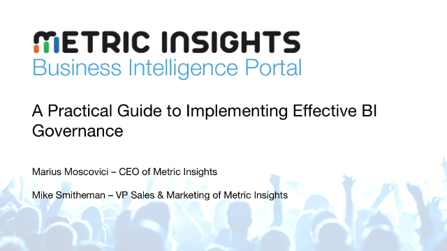 A Practical Guide to Implementing Effective BI Governance