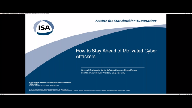 F5 Sponsored 'ISA' Webinar: How to Stay Ahead of Motivated Cyber Attackers