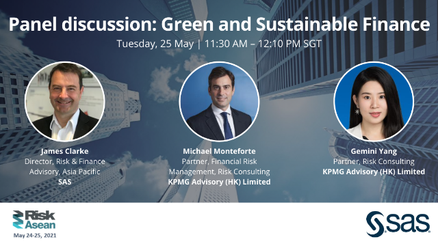 Panel discussion: Green and Sustainable Finance