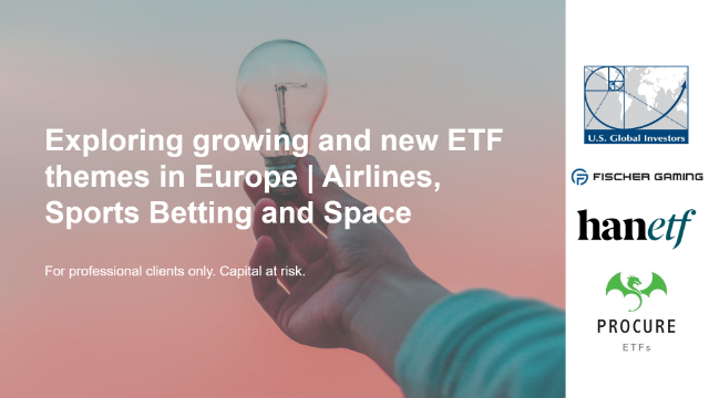 Exploring New ETF Themes in Europe: Airlines, Sports Betting and Space