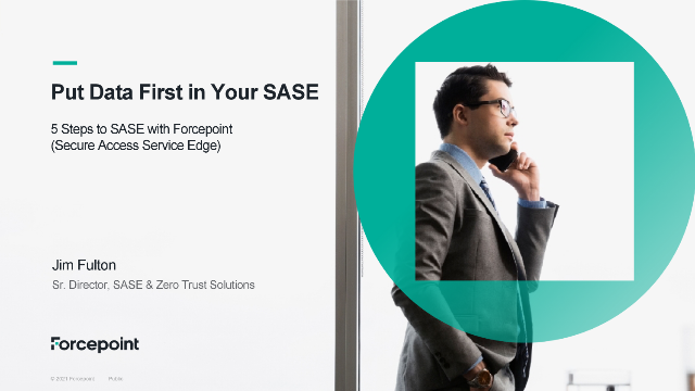 5 steps to a data-first SASE architecture