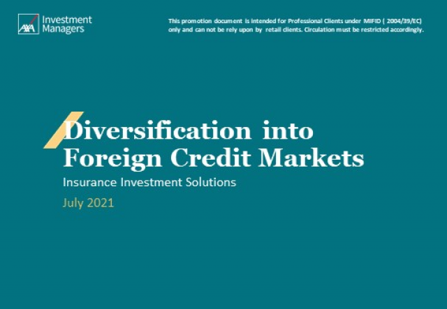 Foreign Credit Investments: opportunity or constraint for insurers ?