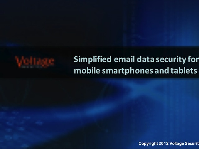 Simplified email data security for mobile smartphones and tablets