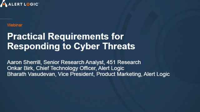 Practical Requirements for Responding to Cyber Threats