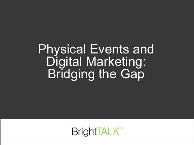Physical Events and Video Marketing: Bridging the Gap