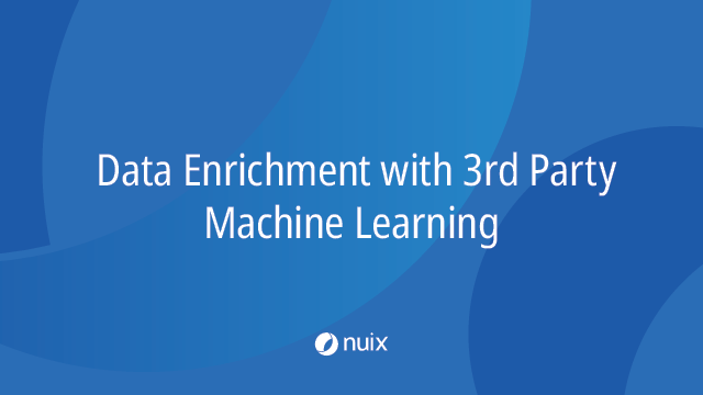 Data Enrichment with 3rd Party Machine Learning