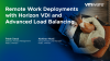 Remote Work Deployments with Horizon VDI and Advanced Load Balancing