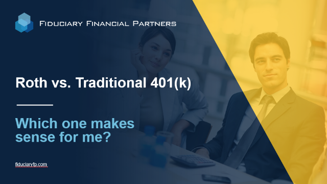 Roth vs. Traditional 401(k): Which one makes sense for me?